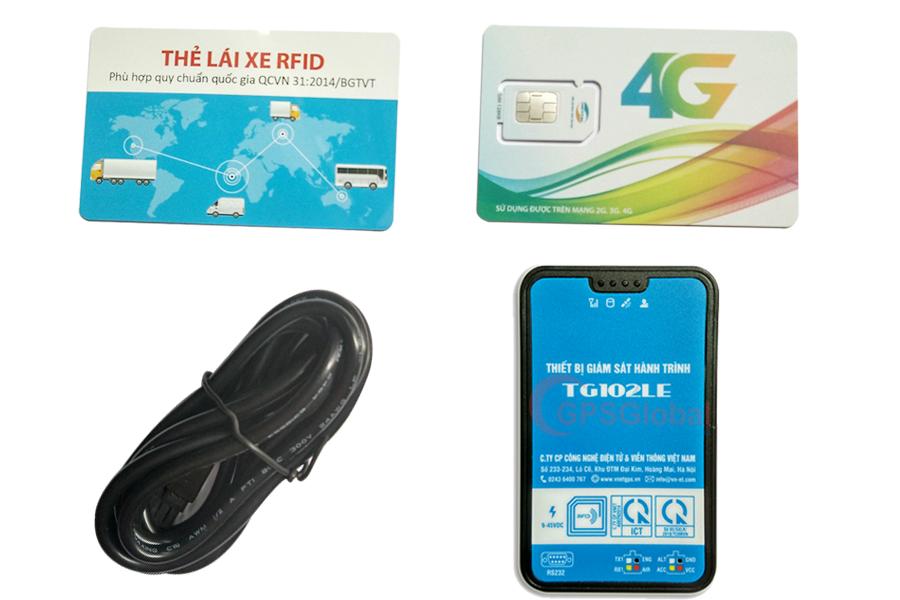 Bộ sản phẩm thiết bị định vị ô tô TG102LE