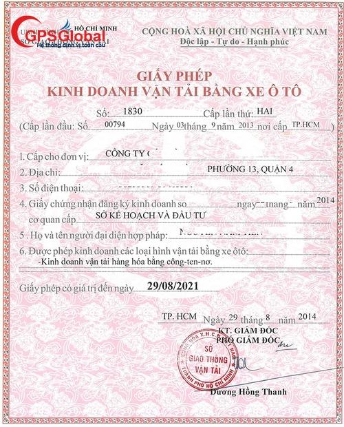 Địa điểm làm giấy phép kinh doanh vận tải tại Vĩnh Phúc giá rẻ